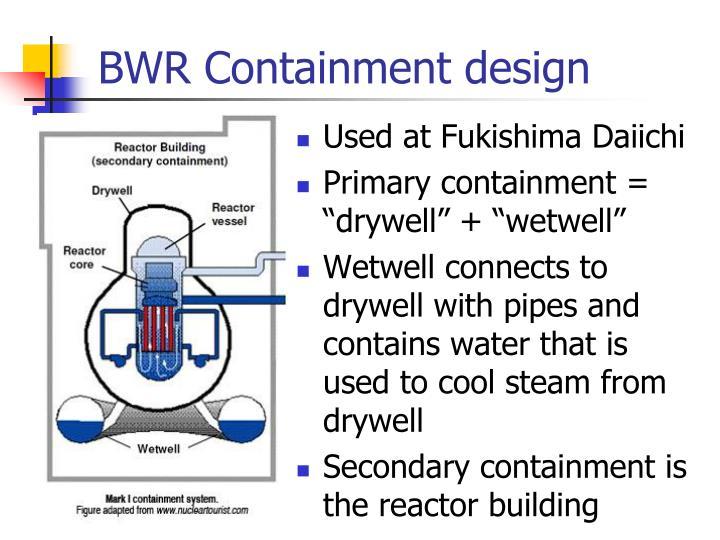 BWR Containment design