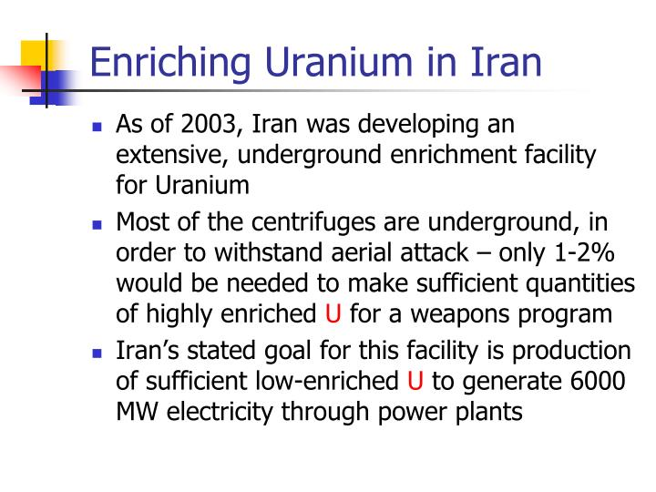 Enriching Uranium in Iran