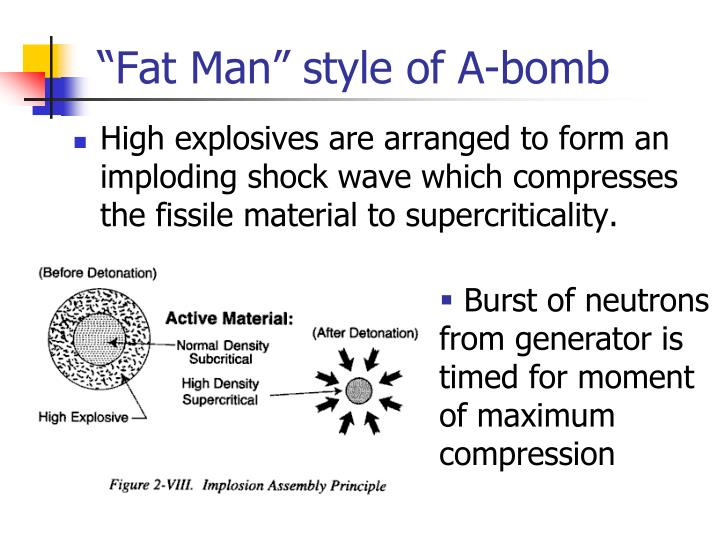 """Fat Man"" style of A-bomb"