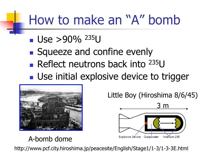 """How to make an """"A"""" bomb"""