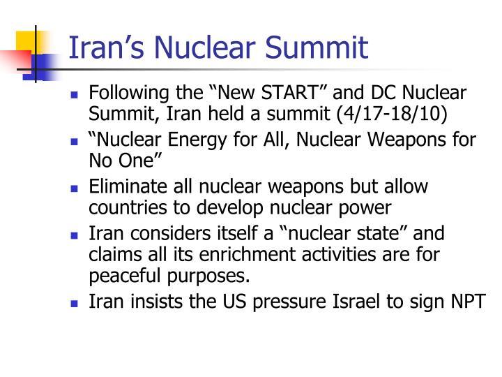 Iran's Nuclear Summit
