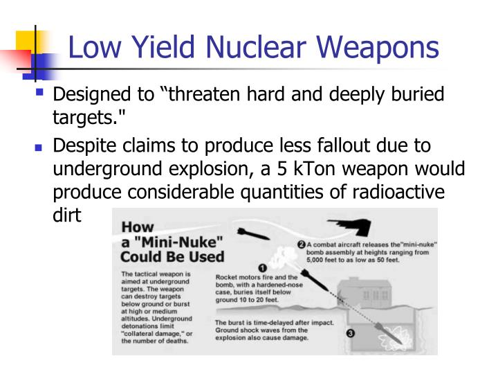 Low Yield Nuclear Weapons