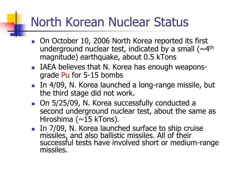 North Korean Nuclear Status