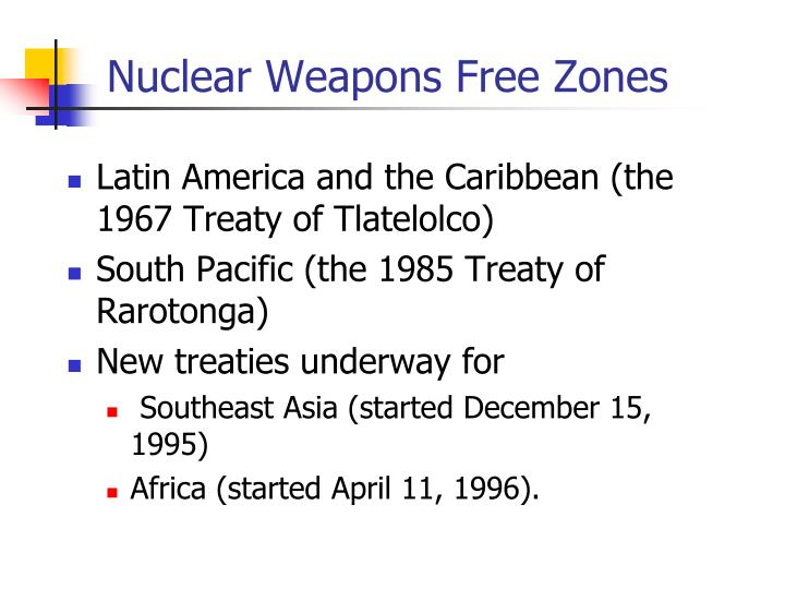 Nuclear Weapons Free Zones