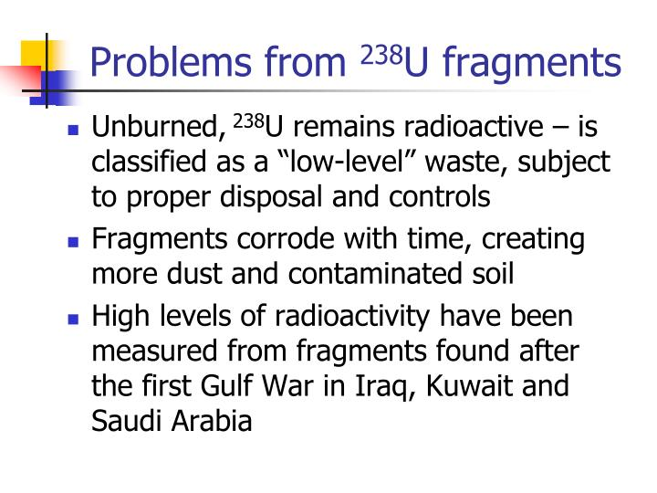 Problems from