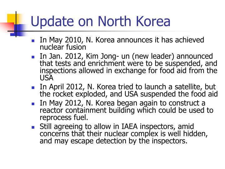 Update on North Korea