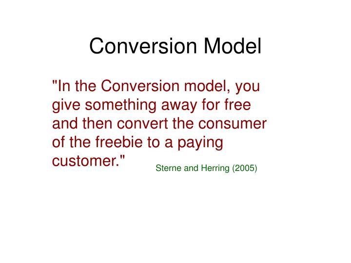 Conversion Model