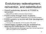 evolutionary redevelopment reinvention and redistribution