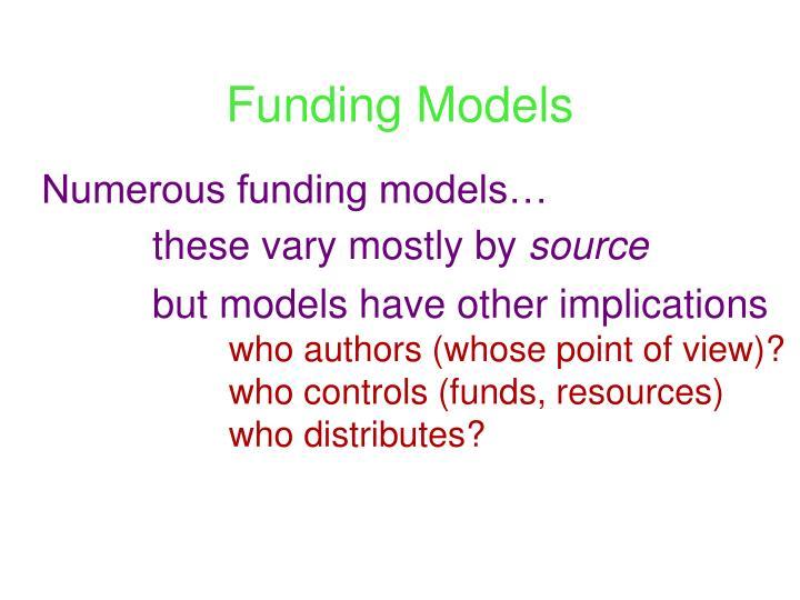 Funding Models