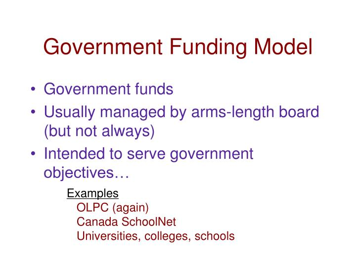 Government Funding Model