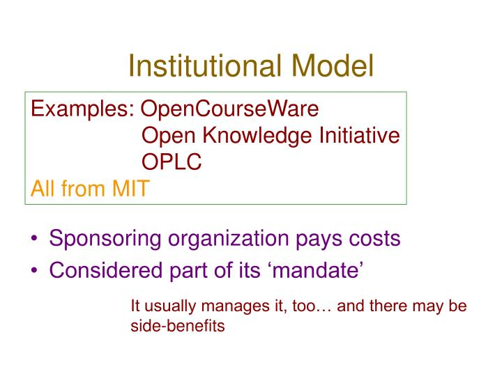Institutional Model