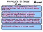 microsoft s business model