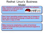 redhat linux s business model