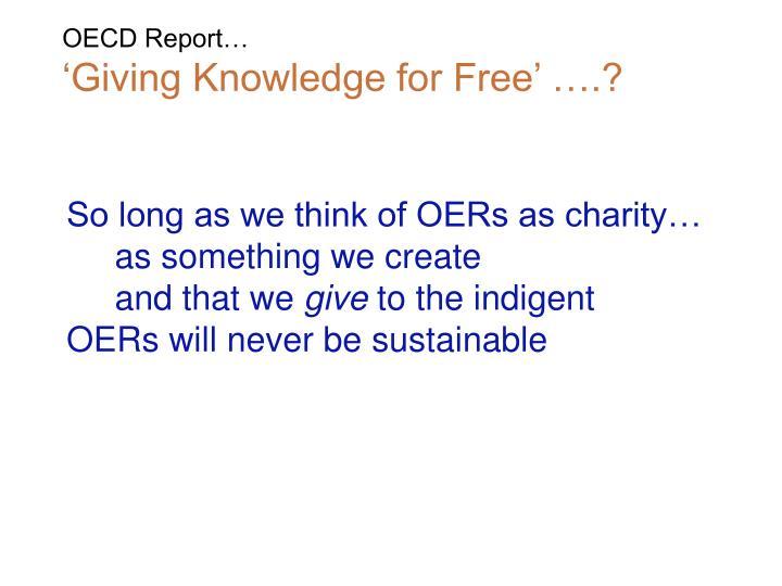 OECD Report…