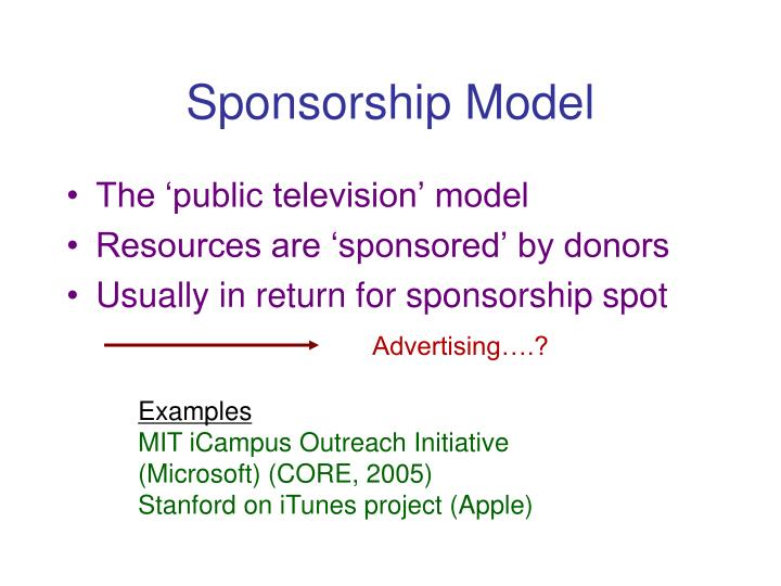 Sponsorship Model