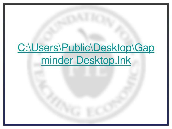 C:\Users\Public\Desktop\Gapminder Desktop.lnk