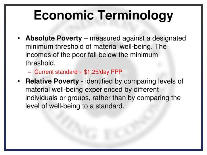 Economic Terminology