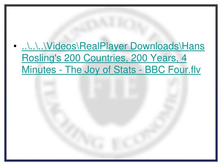 ..\..\..\Videos\RealPlayer Downloads\Hans Rosling's 200 Countries, 200 Years, 4 Minutes - The Joy of Stats - BBC Four.flv