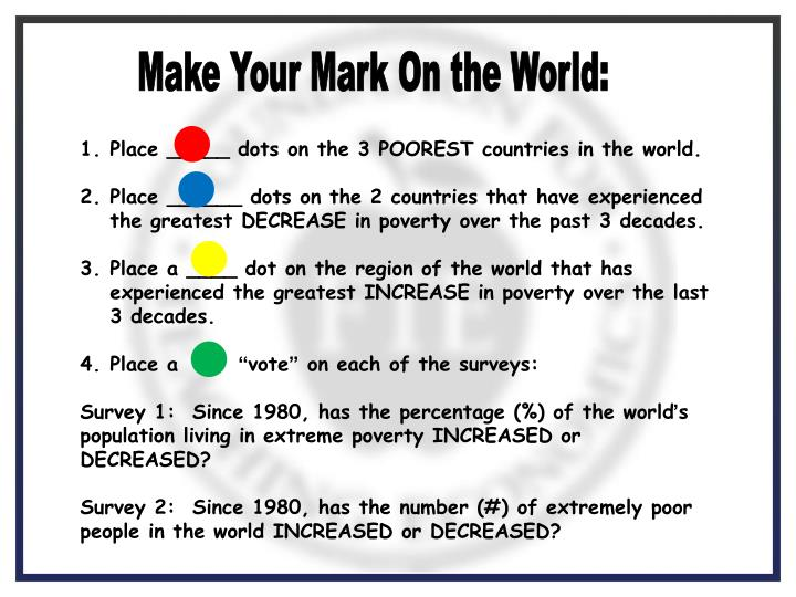 Make Your Mark On the World: