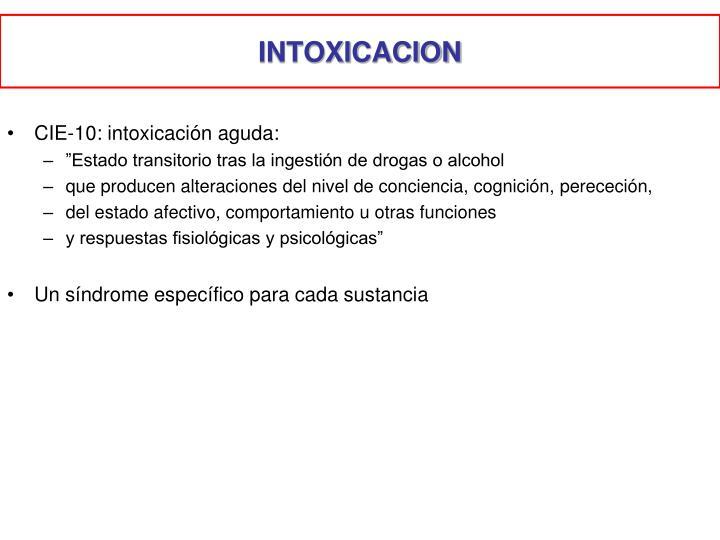 INTOXICACION