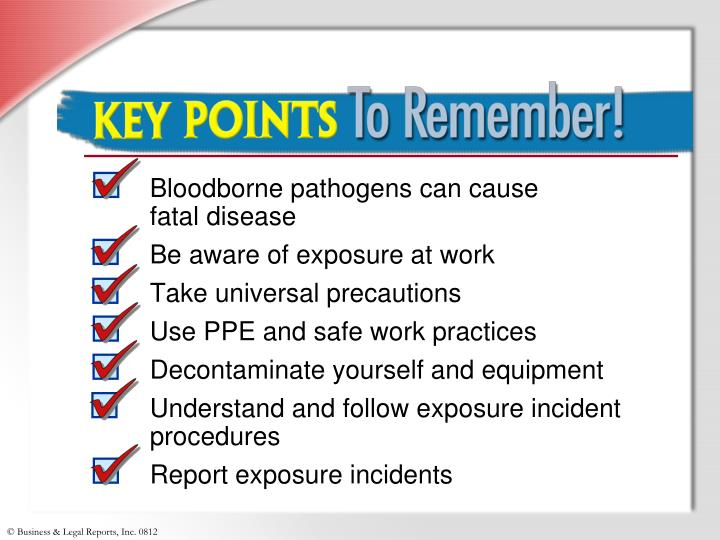 Bloodborne pathogens can cause