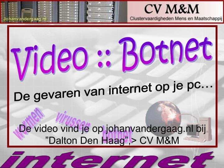 "De video vind je op johanvandergaag.nl bij ""Dalton Den Haag"",> CV M&M"