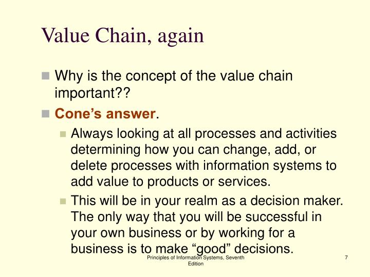 Value Chain, again