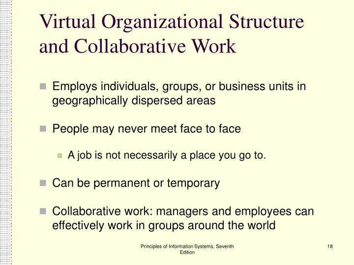 Virtual Organizational Structure and Collaborative Work
