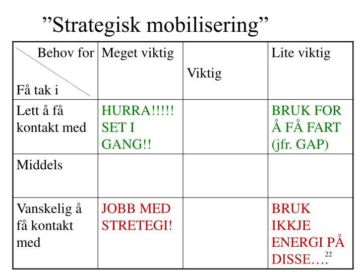 """Strategisk mobilisering"""