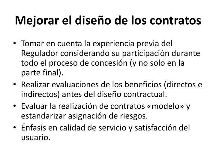 Mejorar el diseño de los contratos
