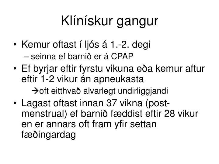 Klínískur gangur
