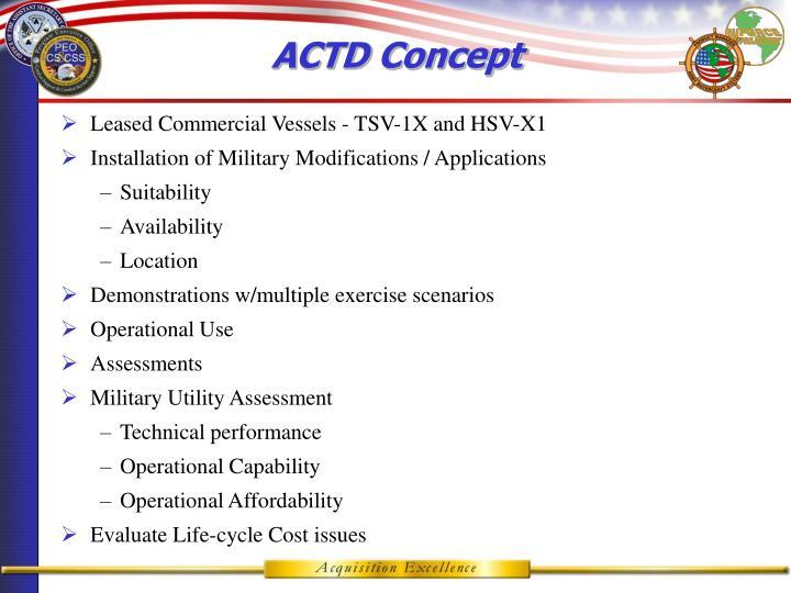 ACTD Concept