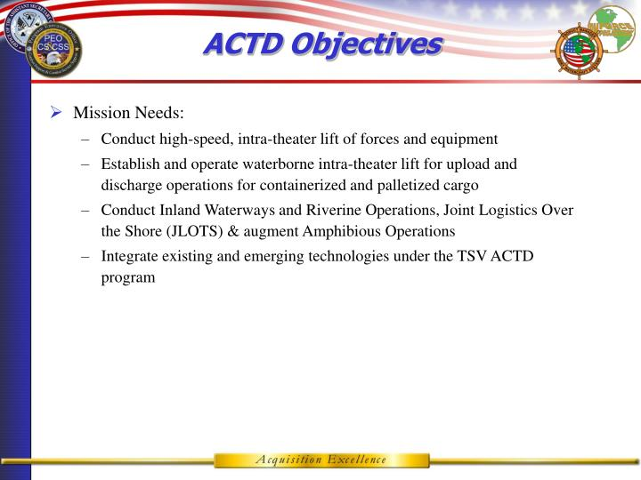 ACTD Objectives