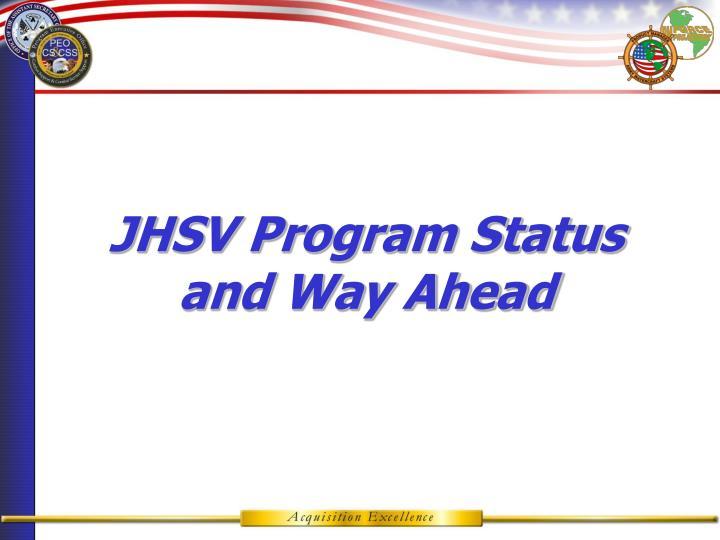 JHSV Program Status