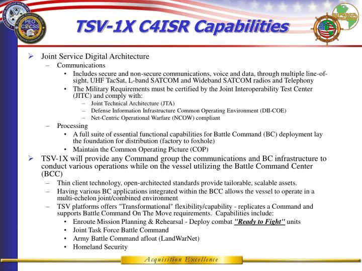 TSV-1X C4ISR Capabilities