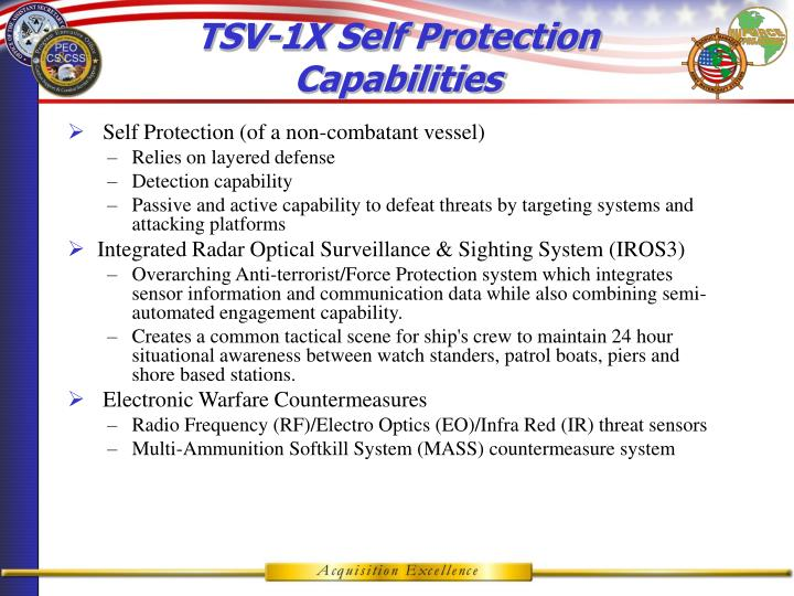 TSV-1X Self Protection