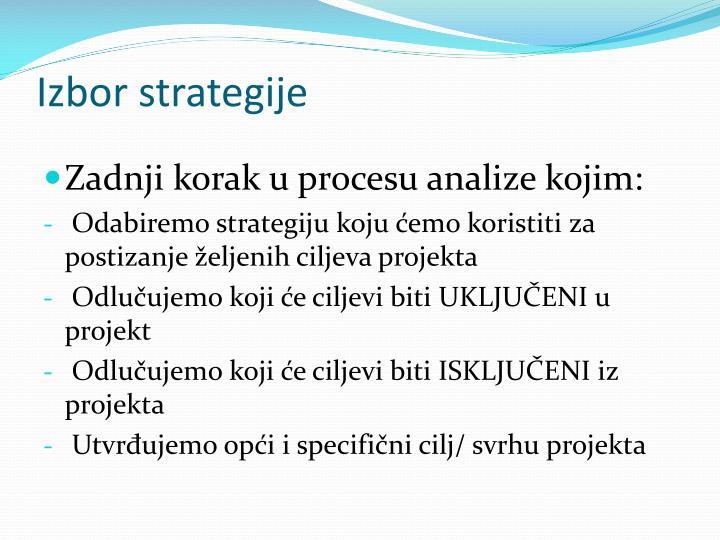 Izbor strategije