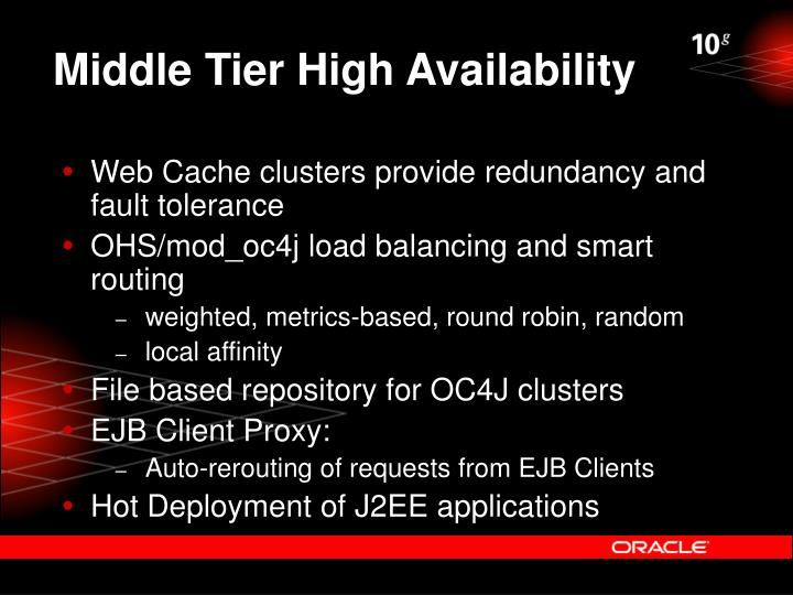 Middle Tier High Availability