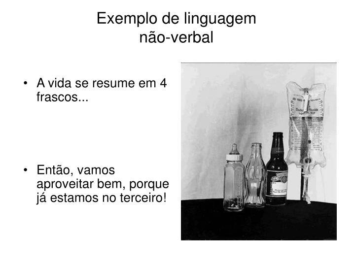 Exemplo de linguagem não-verbal
