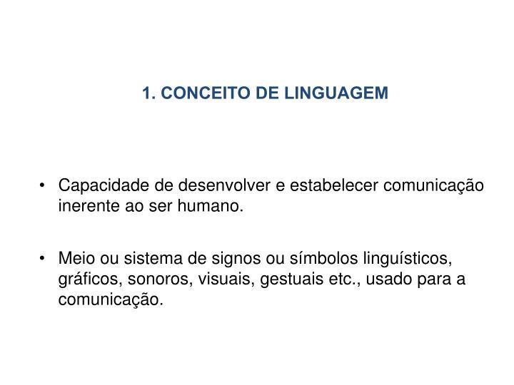 1. CONCEITO DE LINGUAGEM
