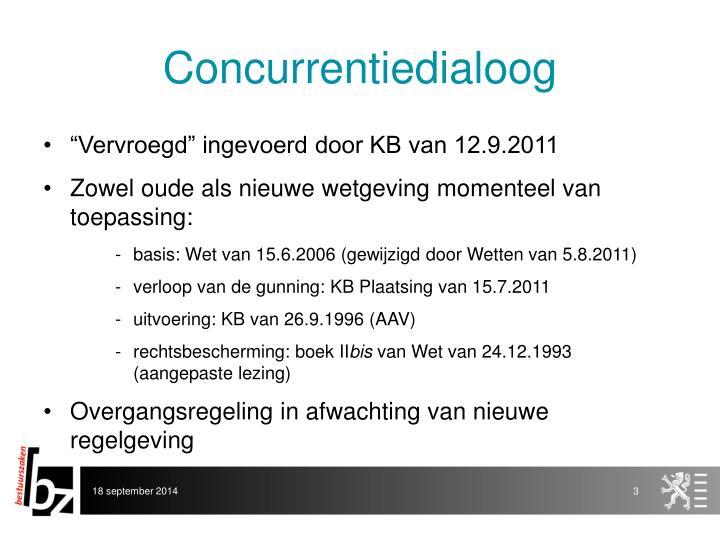 Concurrentiedialoog