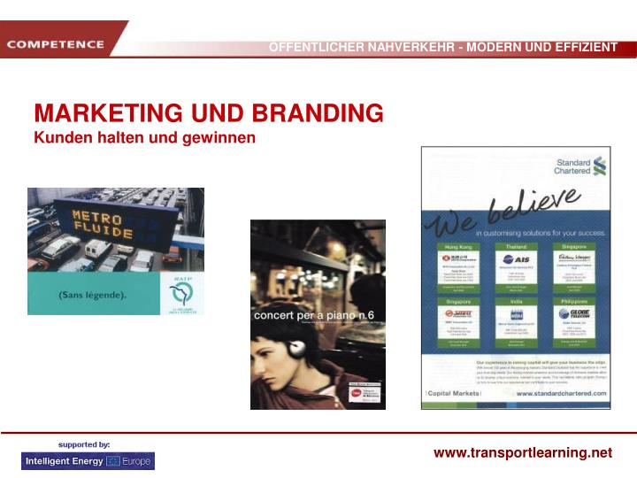MARKETING UND BRANDING
