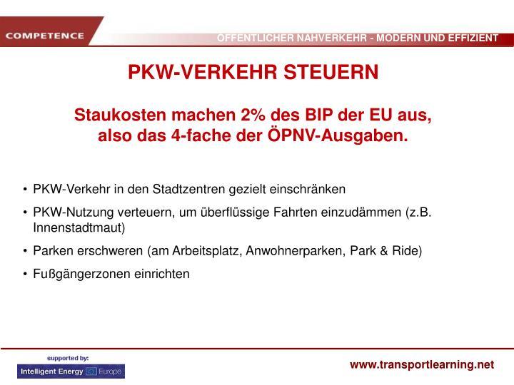 PKW-Verkehr in den Stadtzentren gezielt einschränken