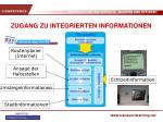 zugang zu integrierten informationen