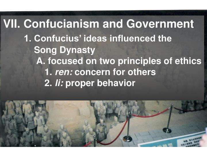 VII. Confucianism and Government