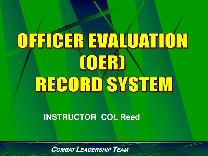 OFFICER EVALUATION