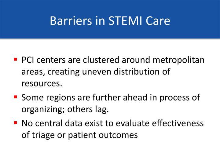 Barriers in STEMI Care