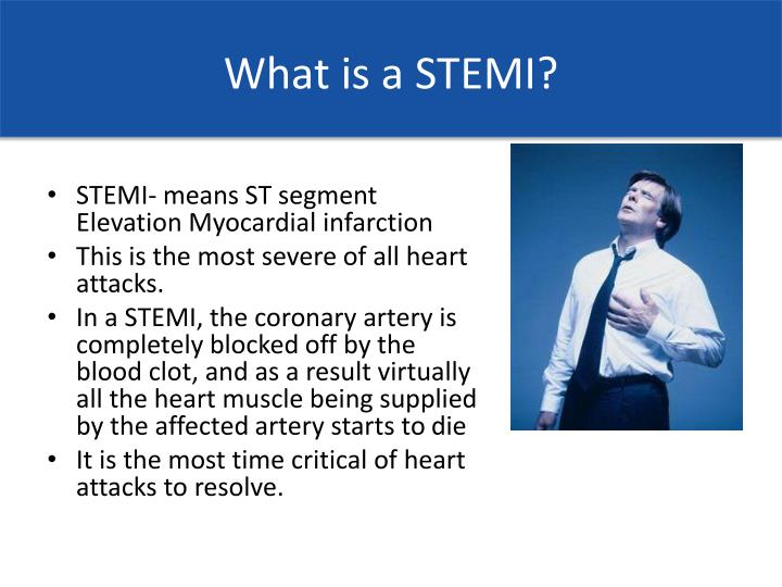 What is a STEMI?