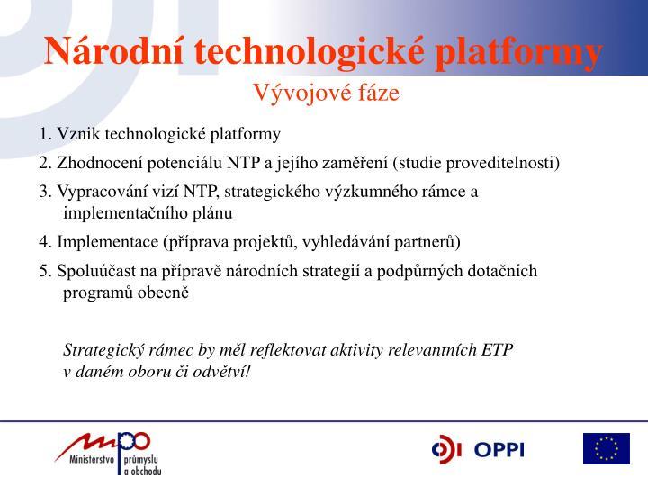 1. Vznik technologické platformy