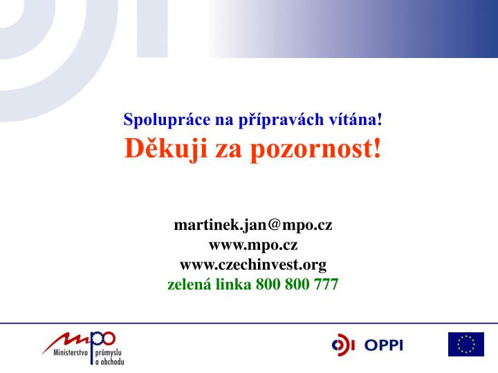 Spolupráce na přípravách vítána!